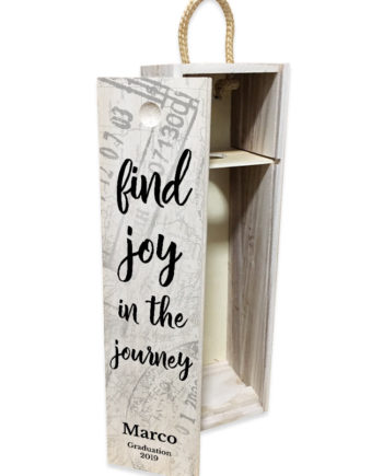 'Find Joy In The Journey' Pull Lid Wine Box