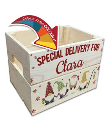 Christmas Eve Personalised Wooden Crate - English Version